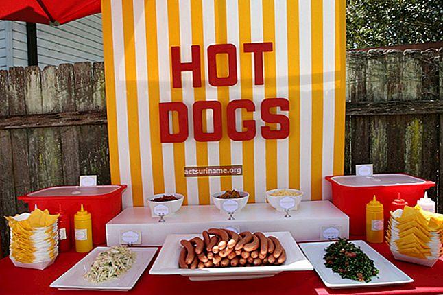 Temi per un carrello di hot dog