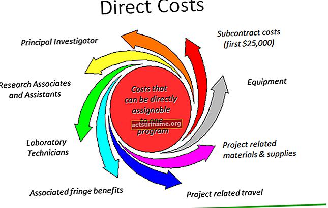 Dove sono elencati i costi diretti nel bilancio?